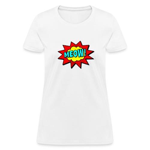 pop art meow womens - Women's T-Shirt