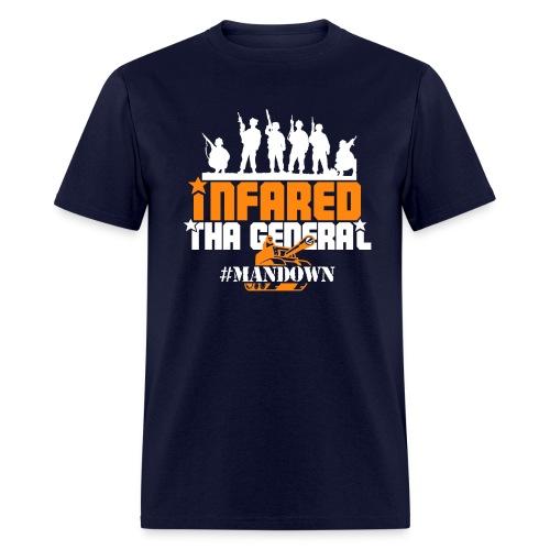 #Mandown T Navy/Orange/White - Men's T-Shirt