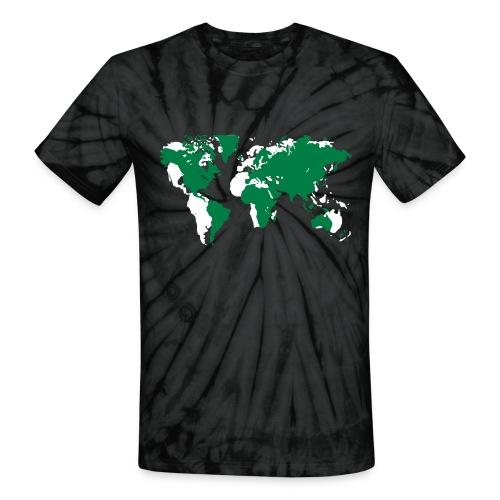World Map T Shirt - Unisex Tie Dye T-Shirt