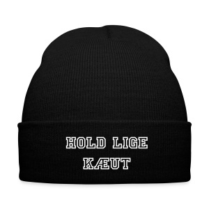 Hold Lige Kæut Hue - Knit Cap with Cuff Print