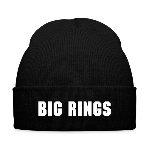 Big Rings Hat - Knit Cap with Cuff Print