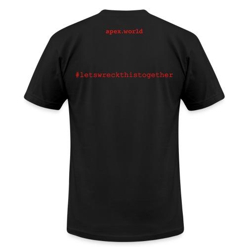 APEX T-Shirt Back View. You can choose different T-Shirt colors - Men's  Jersey T-Shirt