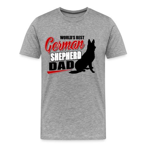 GERMAN SHEPHERD DAD - Men's Premium T-Shirt