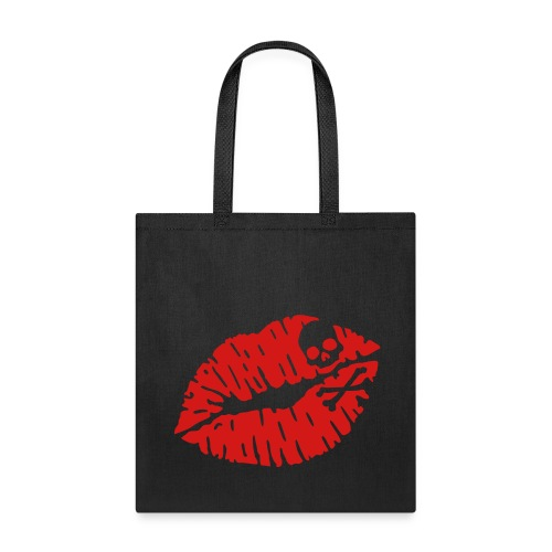 Dark Goth Angel Deadly Kiss Tote Bag - Tote Bag