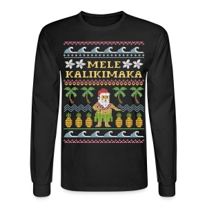 Mele Kalikimaka Ugly Christmas Sweater - Men's Long Sleeve T-Shirt