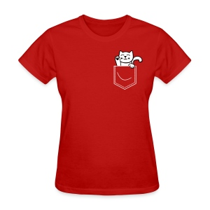kitten in pocket womens - Women's T-Shirt