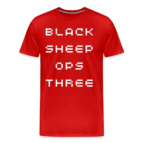 Black Sheep Ops Three Men Tee - Men's Premium T-Shirt