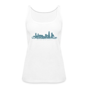 Charlotte, North Carolina Skyline Tank Top (Women/White) - Women's Premium Tank Top