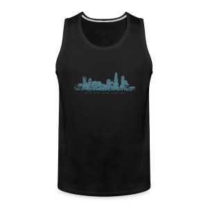 Charlotte, North Carolina Skyline Tank Top (Men/Black) - Men's Premium Tank
