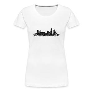 Charlotte, North Carolina Skyline T-Shirt (Women/White) - Women's Premium T-Shirt