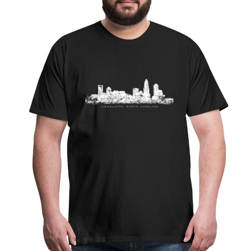 Charlotte, North Carolina Skyline T-Shirt (Men/Black) - Men's Premium T-Shirt