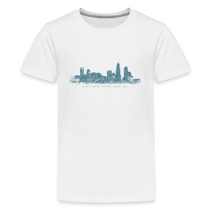 Charlotte, North Carolina Skyline T-Shirt (Children/White) - Kids' Premium T-Shirt