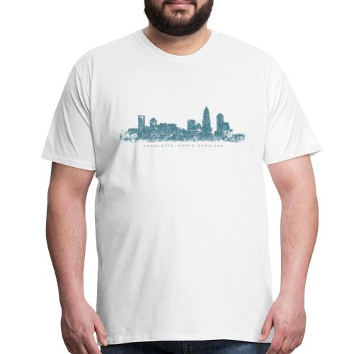 Charlotte, North Carolina Skyline T-Shirt (Men/White) - Men's Premium T-Shirt