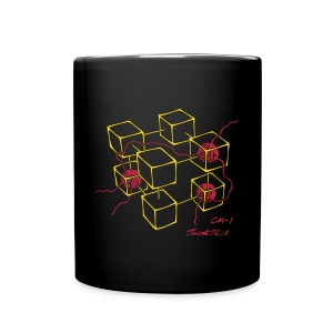 CM-1 Logo mug black/red - Full Color Mug