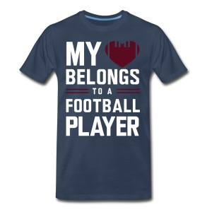 Heart belongs to a football player - Men's Premium T-Shirt
