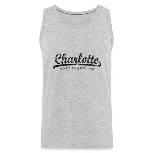 Charlotte, North Carolina Classic Vintage Black