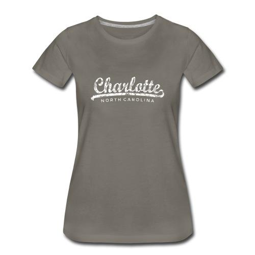 Charlotte, North Carolina Classic T-Shirt (Women/Asphalt) - Women's Premium T-Shirt