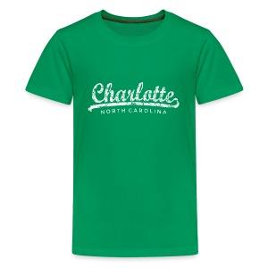 Charlotte, North Carolina Classic T-Shirt (Children/Green) - Kids' Premium T-Shirt
