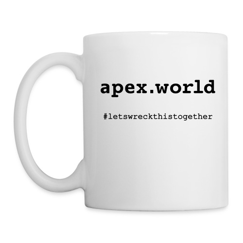 APEX Mug Front View. You can choose different Mug colors - Coffee/Tea Mug