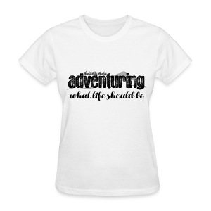 Adventuring Black - Women's T-Shirt