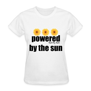 Powered by the Sun Black - Women's T-Shirt