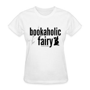Bookaholic Fairy Black - Women's T-Shirt