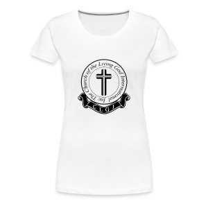 Black on White CLGI Logo Tee for Her - Women's Premium T-Shirt