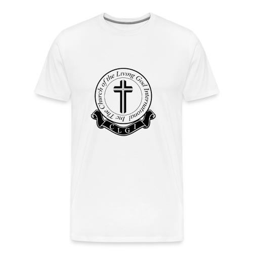 Black on White CLGI Logo Tee for Him - Men's Premium T-Shirt