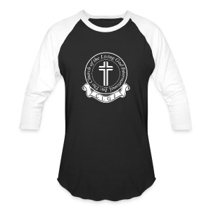 White on Black Baseball Tee - Baseball T-Shirt