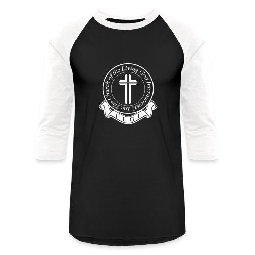White on Black Baseball Tee - Baseball T-Shirt