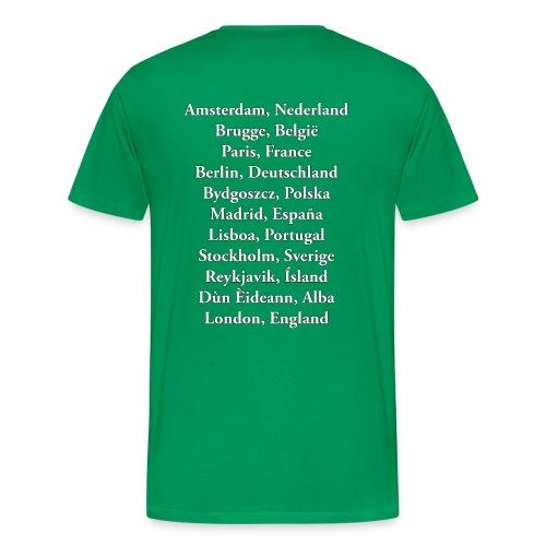 Tritty In The City Tour List Tshirt Men's - Men's Premium T-Shirt