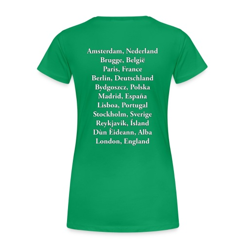 Tritty In The City Tour List Tshirt Women's - Women's Premium T-Shirt