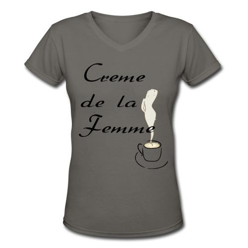 Women's V-Neck T-Shirt - racerback,play on words,paris,high,french,france,bon beret