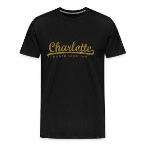 Charlotte, North Carolina Classic Gold (Men) - Men's Premium T-Shirt