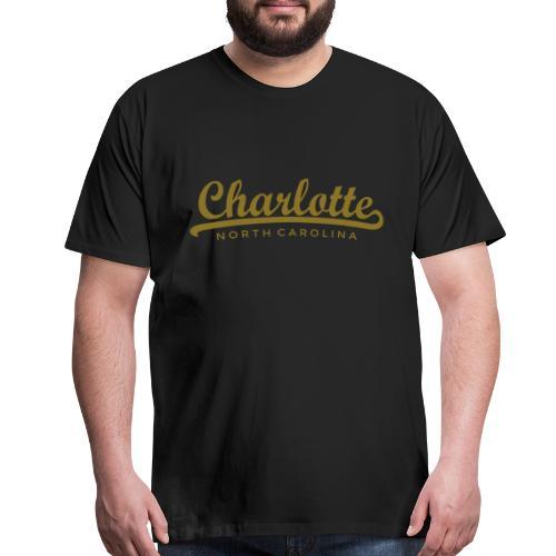 Charlotte, North Carolina Classic Gold (Men) - Men's Premium T-Shirt