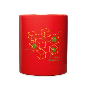 CM-1 Logo mug red/green - Full Color Mug