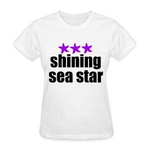 Shining Sea Star Black - Women's T-Shirt