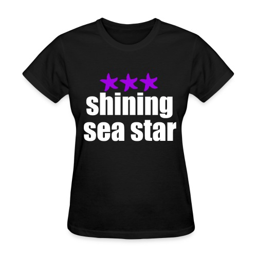 Shining Sea Star White - Women's T-Shirt