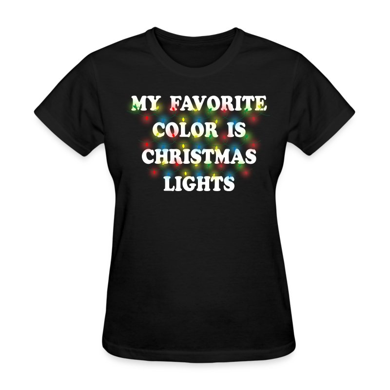 My favorite color is christmas lights t shirt spreadshirt