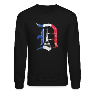 Long Sleeve Shirts ~ Crewneck Sweatshirt ~ Detroit Stands With Paris