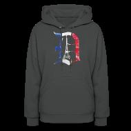 Hoodies ~ Women's Hoodie ~ Detroit Stands With Paris