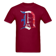 T-Shirts ~ Men's T-Shirt ~ Detroit Stands With Paris