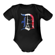 Baby Bodysuits ~ Baby Short Sleeve One Piece ~ Detroit Stands With Paris