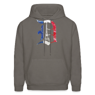 Hoodies ~ Men's Hoodie ~ Detroit Stands With Paris