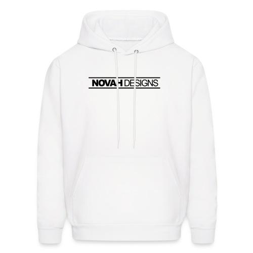 Novah Designs (White Hoodie) - Men's Hoodie