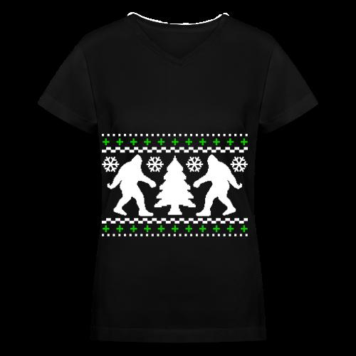 Bigfoot - Women's V-Neck T-Shirt