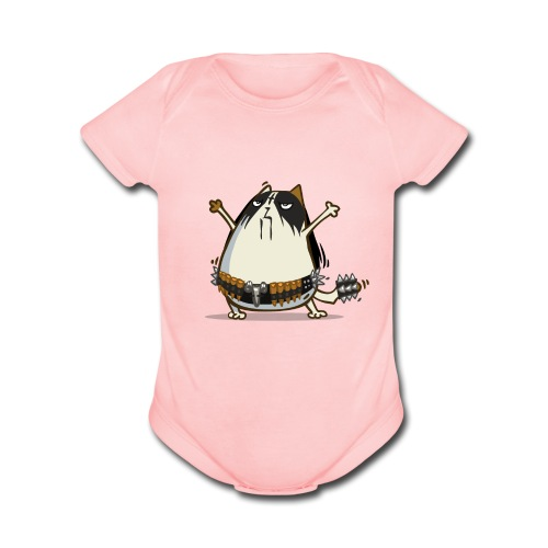 Metalcat — Friday Cat №29 - Organic Short Sleeve Baby Bodysuit