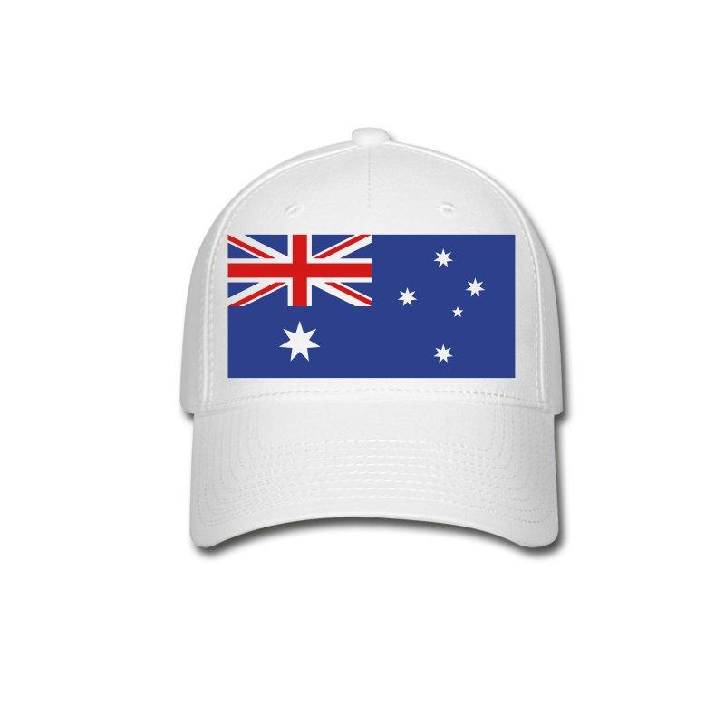 australia australian flag baseball cap spreadshirt
