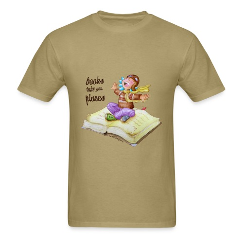 BOOKS TAKE YOU PLACES - Men's T-Shirt