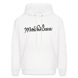 MusicFourScore White Hoodie - Men's Hoodie